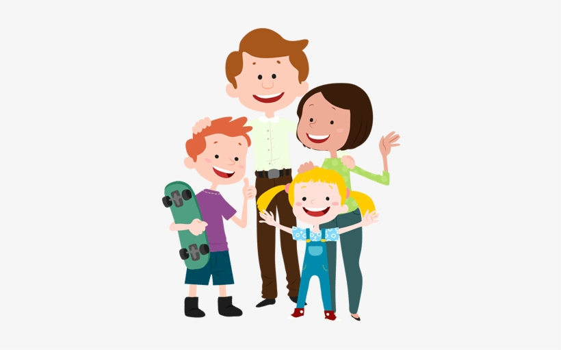 Happy Family Family Cartoon Transparent 400x470 Png Download Pngkit