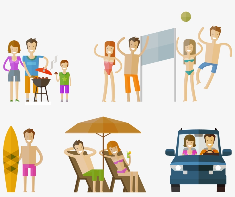Kisspng Cartoon Illustration Vacation Homes Character Cartoon Family On Holiday 2358x1839 Png Download Pngkit