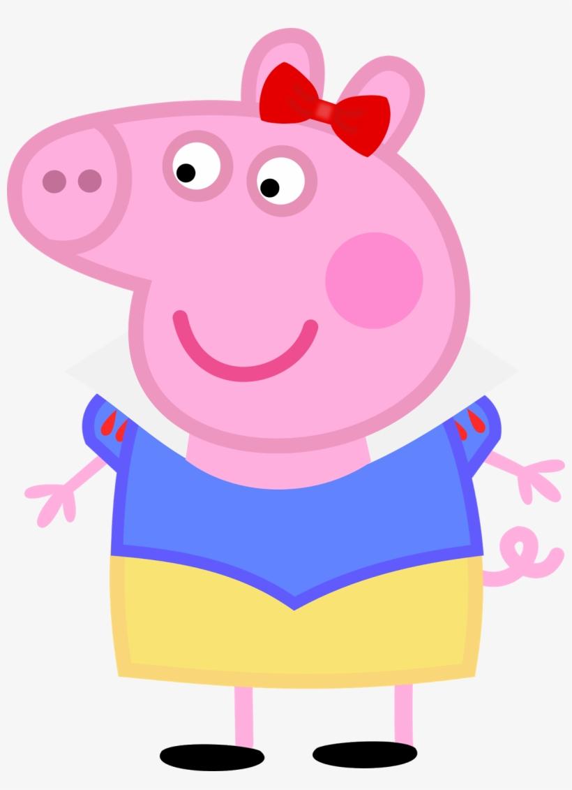 Peppa Pig Branca De Neve 01 Imagens Png Peppa Pig Head Png