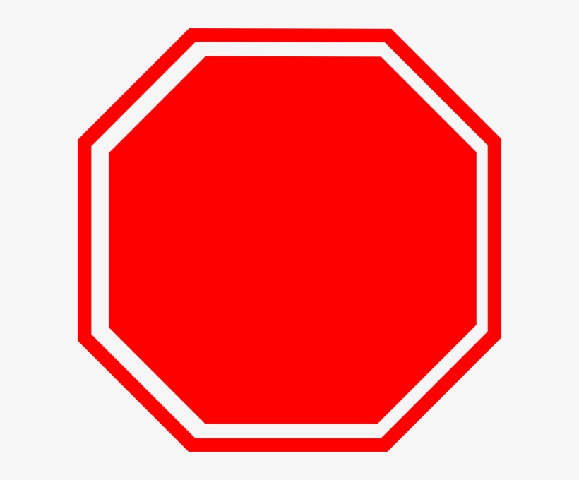 Blank Stop Sign Clipart - Stop Sign Without Stop - 600x600 PNG