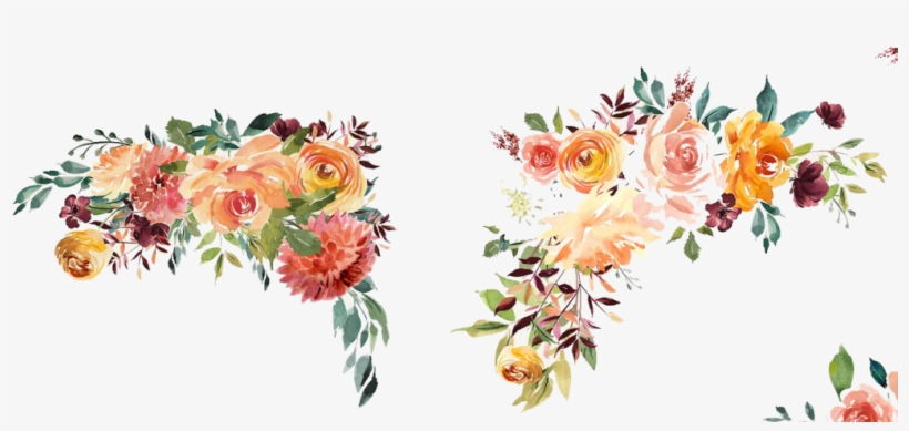 Transparent Border Watercolor Floral Watercolor Flower Border Png
