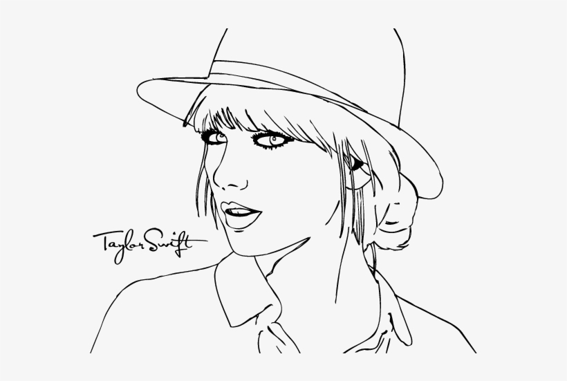 - Picture Stock Taylor Swift - People Coloring Pages To Print - 600x470 PNG  Download - PNGkit