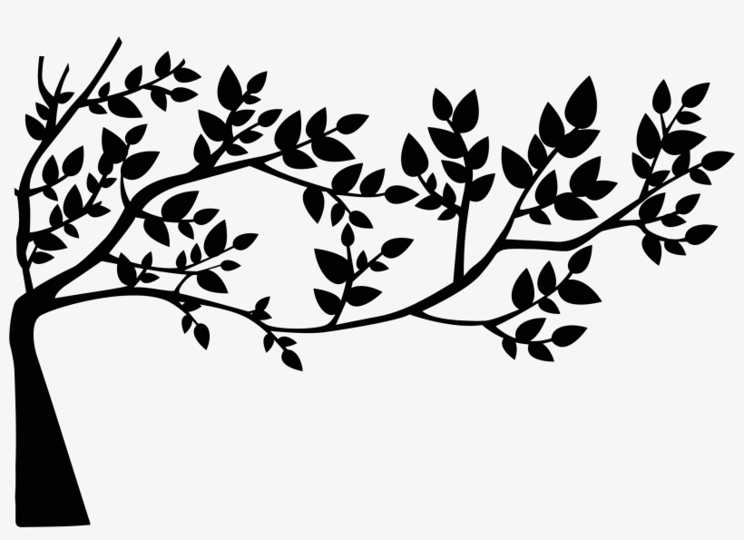 Leaf Clipart Silhouette Tree With Leaves Silhouette 2251x1524