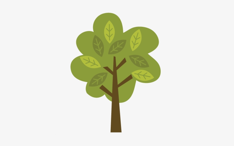 Tree With Leaves Svg File For Scrapbooking And Cardmaking Cute