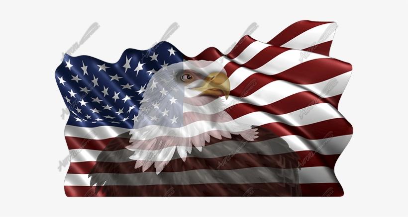 Waving American Flag Eagle Head American Flag With Bald Eagle