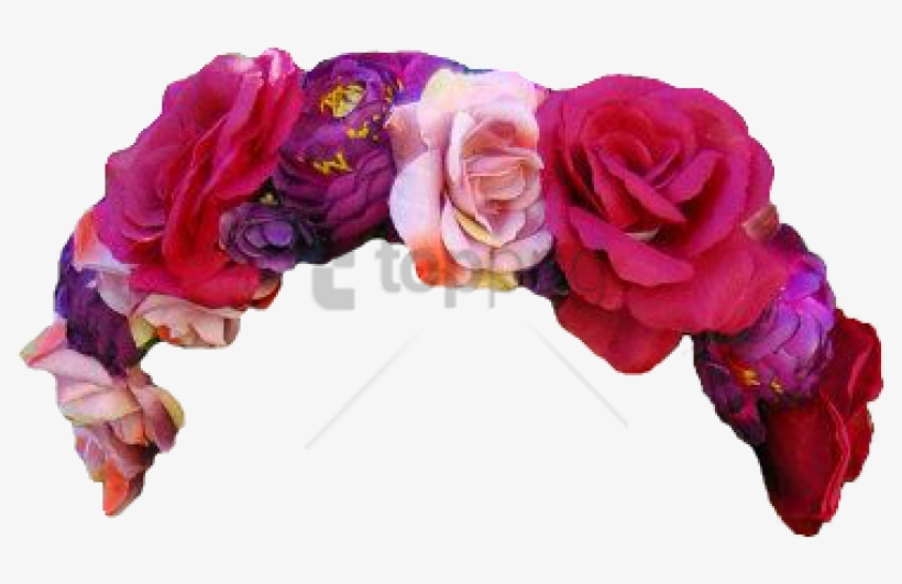Free Png Download Flower Crown Transparent Overlay - Red