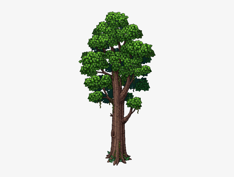 Jungle C16 Tree Ancient Kapok Tree Habbo 270x539 Png Download