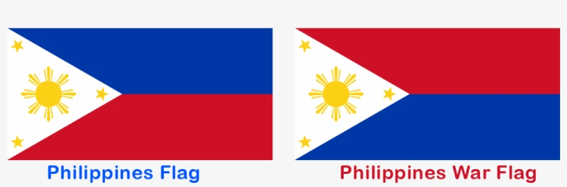 Bandera Filipinas Guerra Paz Philippines Flag Upside Down 1050x300 Png Download Pngkit