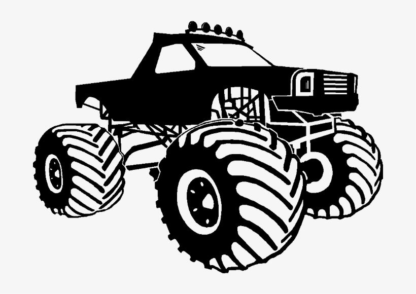 Clip Art Royalty Free Library Collection Of Black And Black And White Monster Truck 690x500 Png Download Pngkit