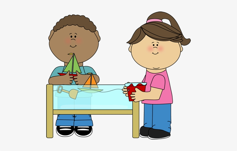 School Kids Clip Art - Sand And Water Table Clipart ...