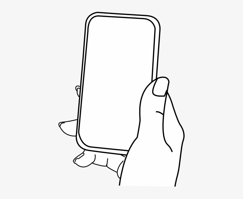 28 Collection Of Iphone Drawing Cartoon Hand Holding Iphone