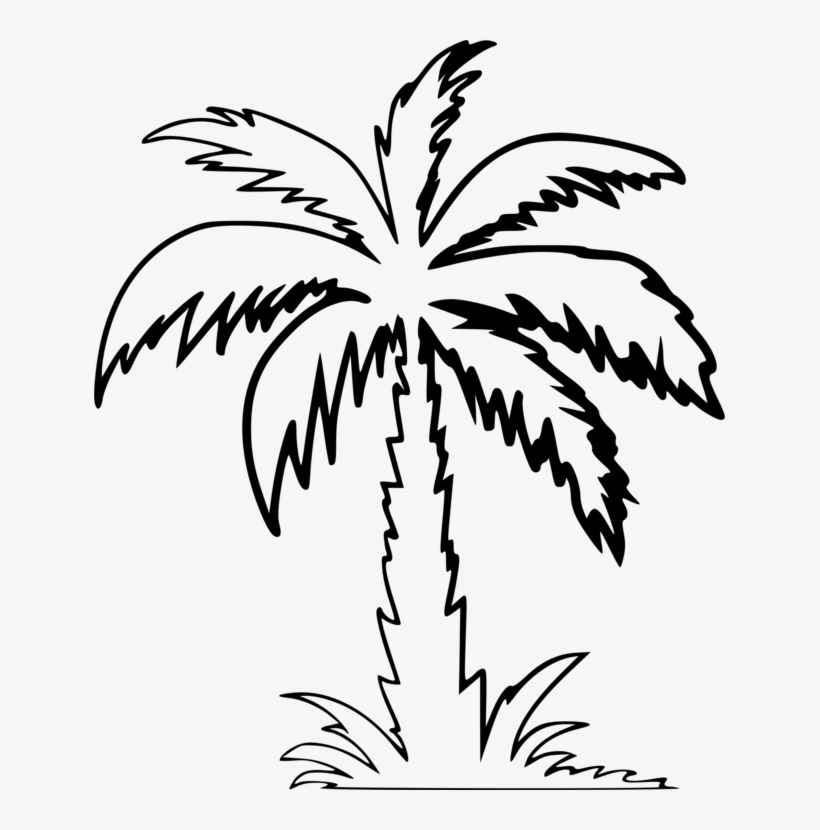 Palm Trees Drawing Computer Icons Silhouette