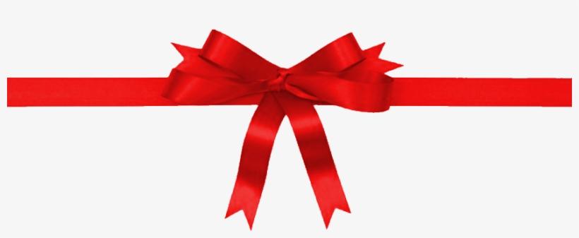 Ribbon Transparent Holiday - Holiday Ribbon Svg - 880x319 PNG Download -  PNGkit