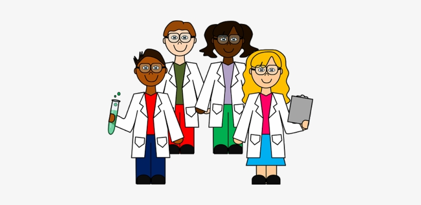 Science Clipart Png Clip Art - Group Of Scientists Clipart, transparent png