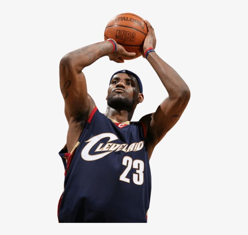 5af09413f1b1 Lebron James Shot Png - Cleveland Cavaliers Lebron James Hardwood Classics