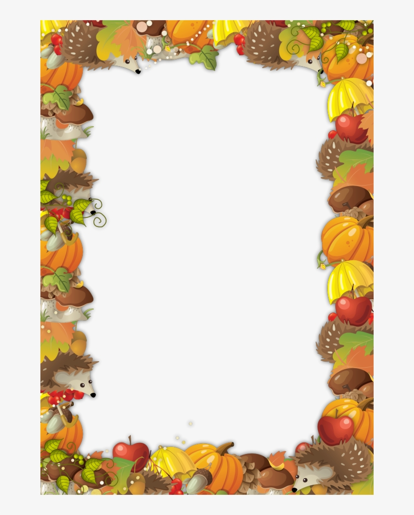 Cute Autumn Frame Free Printable Stationery Page Borders Autumn Frame 660x941 Png Download Pngkit