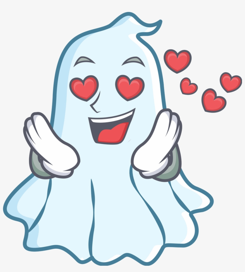 Halloween Fond D Ecran Entitled Cute Ghost In L Amour Cute Ghost Cartoon 939x999 Png Download Pngkit