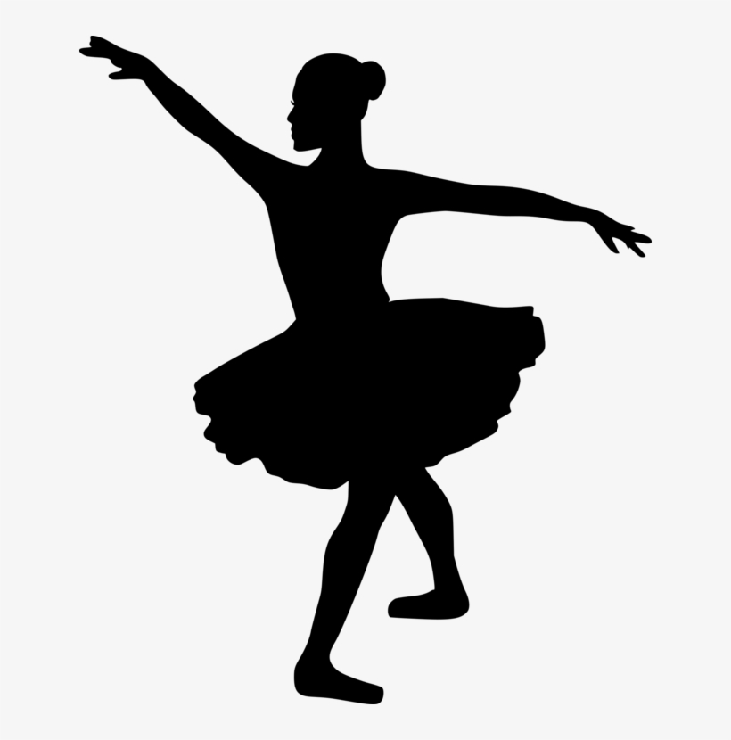 Ballet Dancer Silhouette Tutu Ballerina Clipart Black And White 642x750 Png Download Pngkit
