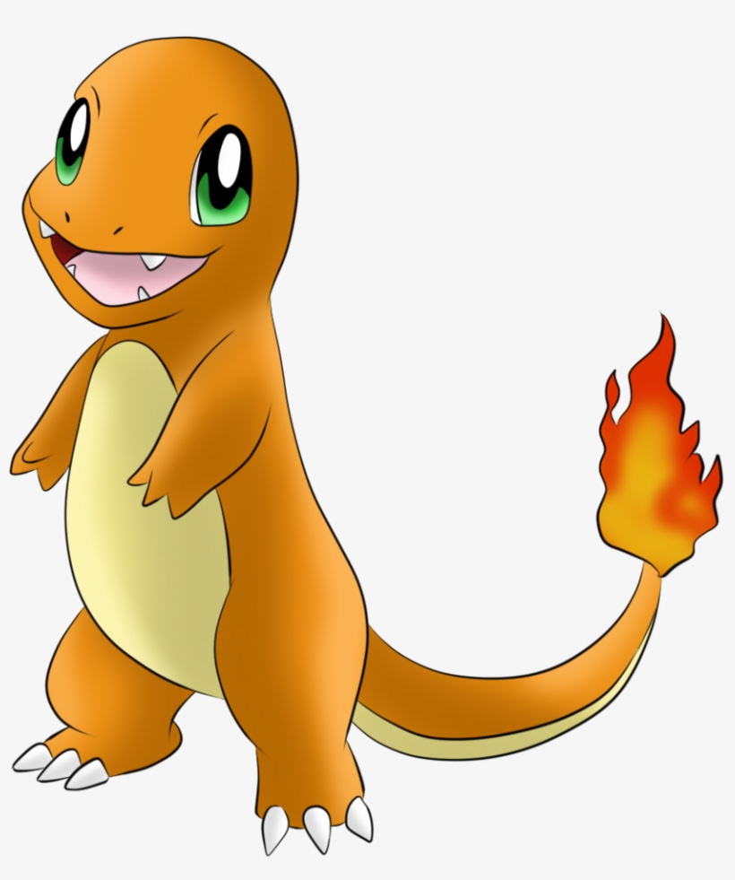 #004 Charmander By Icedragon300 - Pokemon Charmander Png ...