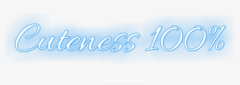 Cuteness 100 Text Png With Neon Light Effect By Mmp