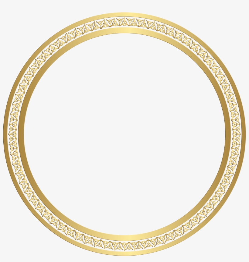 bea8f97a07a2 Round Frame Gold Clip - Picture Frame - 4500x4481 PNG Download - PNGkit