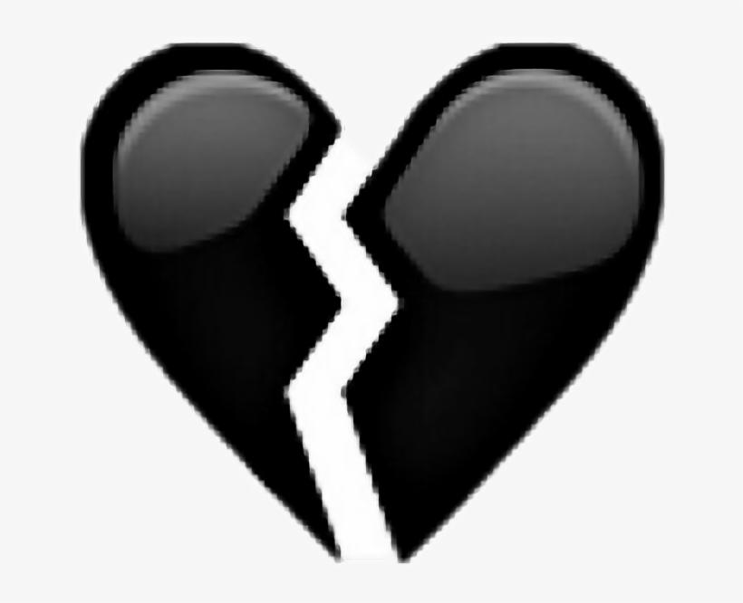 Broken Sad Unhappy Tumblr Broken Black Heart Png 656x586 Png Download Pngkit
