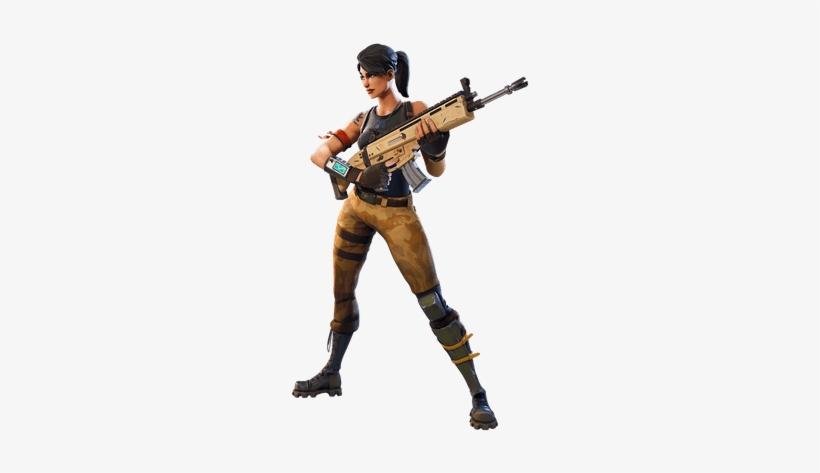Fortnite Skin With Sniper Transparent Fortnite Girl Character With Gun Fortnite Character Transparent 400x400 Png Download Pngkit