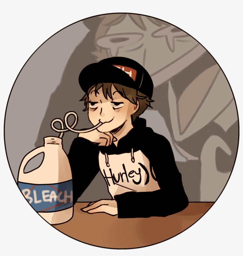 Leafy On Twitter - Leafy Drinking Bleach Shirt - 1200x1200