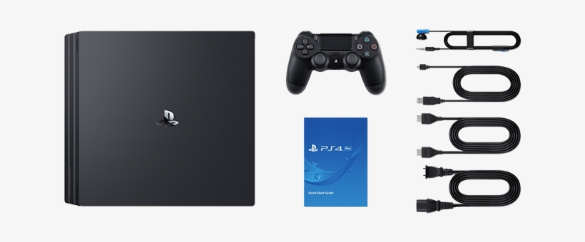 Items Included In The Ps4 Pro Box - Sony Playstation 4 Pro 1tb Console -  720x310 PNG Download - PNGkit