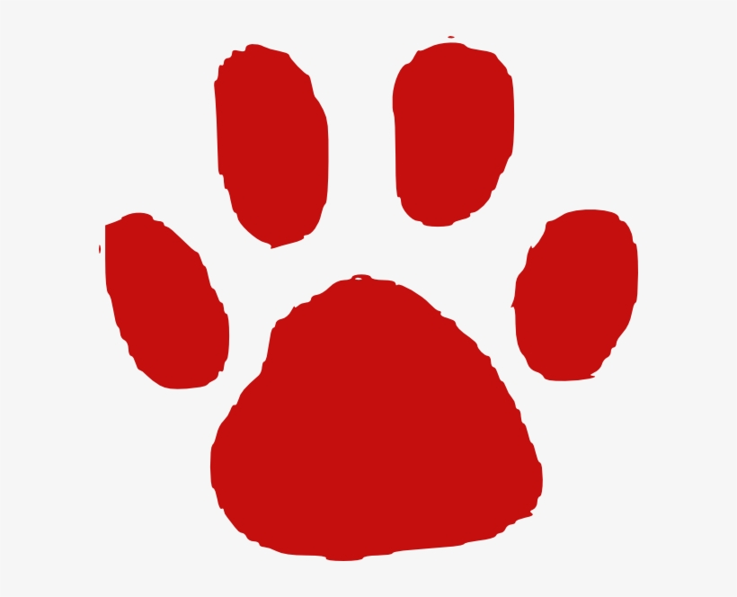 Red Paw Print Clip Art Red Paw Print Transparent Background 600x584 Png Download Pngkit 20 grunge corner (png transparent). red paw print clip art red paw print
