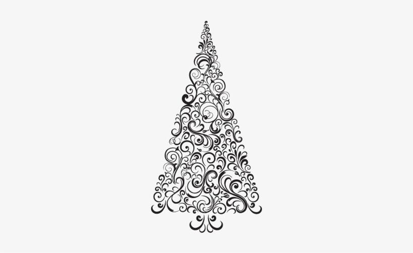 White Christmas Tree Png Transparent.White Christmas Tree Png Festive Swirls Christmas Tree