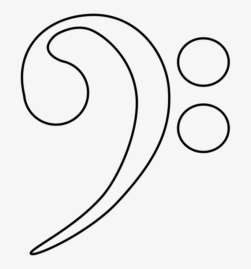 Bass Clef Coloring Page - 683x800 PNG Download - PNGkit