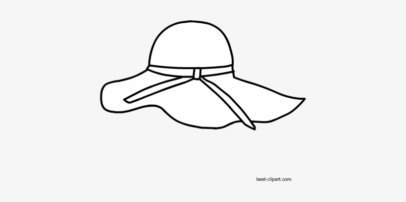 391a8192db0 Black And White Summer Hat Clip Art - Sun Hat - 450x450 PNG Download ...