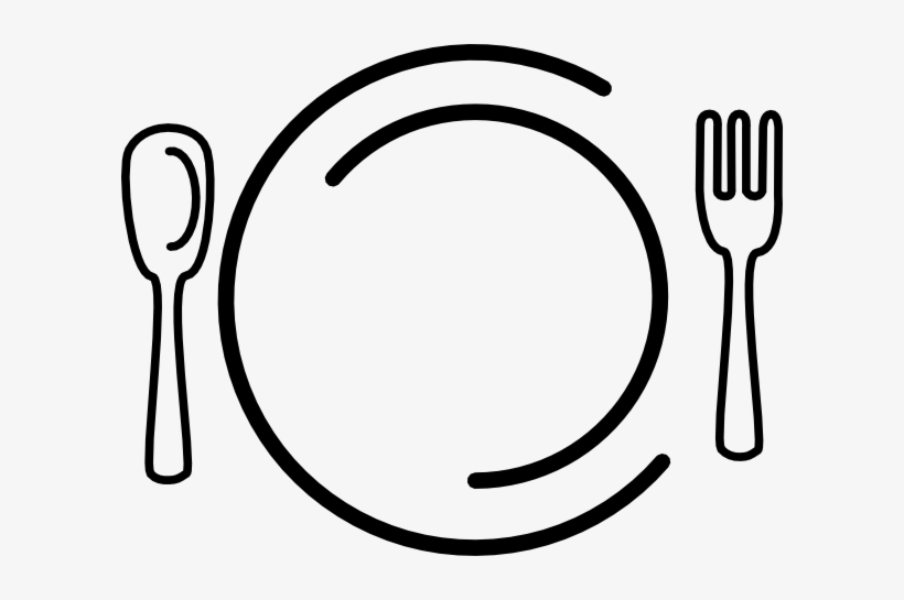 Spoon Clipart Tableware - Dinner Clipart Transparent - 600x465 PNG Download  - PNGkit