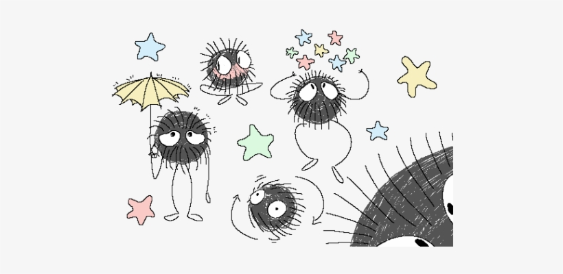 Spirited Away Studio Ghibli Ghibli Scribbles Soot Sprites Soot Sprites Spirited Away 500x320 Png Download Pngkit