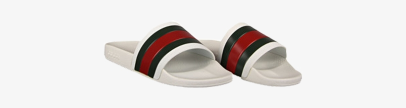 618243b61 Gucci White Rubber Slide Sandals - Transparent Gucci Flip Flops Png ...
