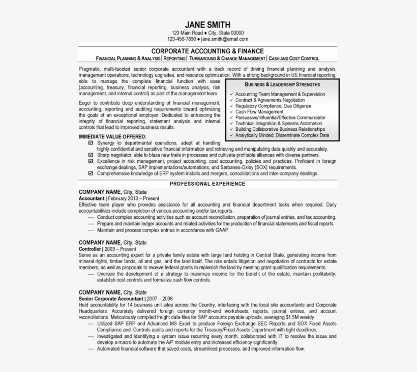 Click Here To Download This Accounting And Finance Oil And Gas Resume Samples Pdf 525x679 Png Download Pngkit