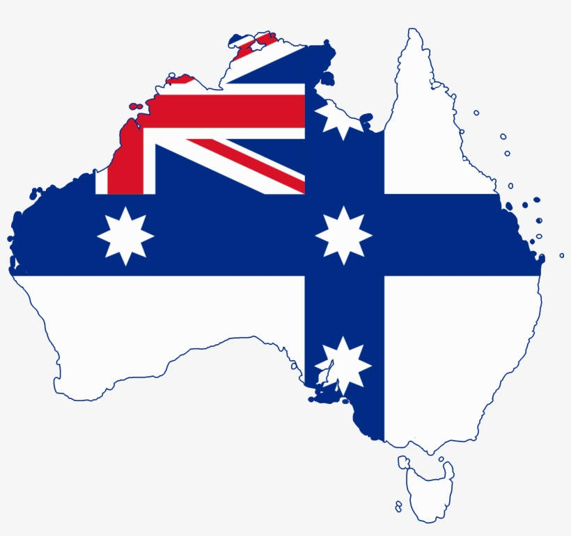 Map Of Australia Before Federation.Flag Map Of Australia Australian Flag Before Federation