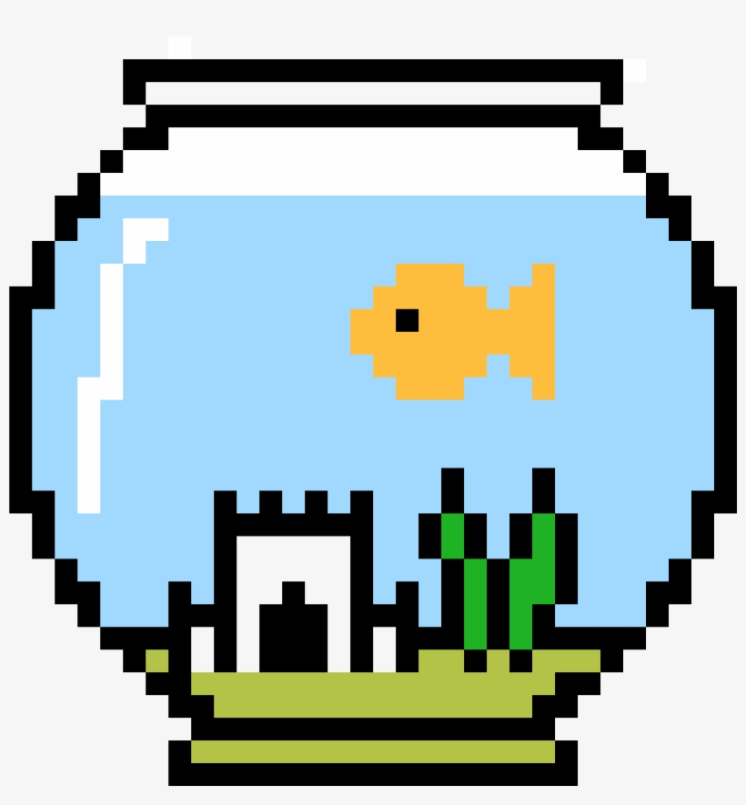 Fish Bowl With Larry Inside Pesca Pixel Art 4400x3700 Png Download Pngkit