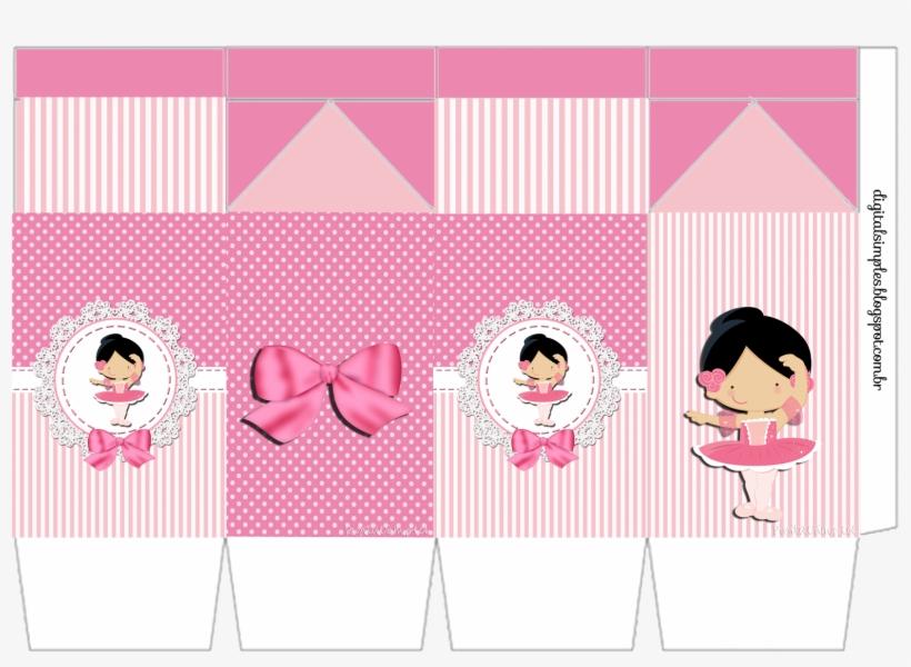 Caixa Milk Tema Bailarina Cor De Rosa Personalizados Bailarina