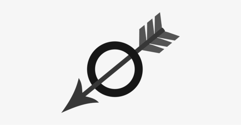 Arrow On Set Tumblr Arrow With Circle Symbol 500x363 Png