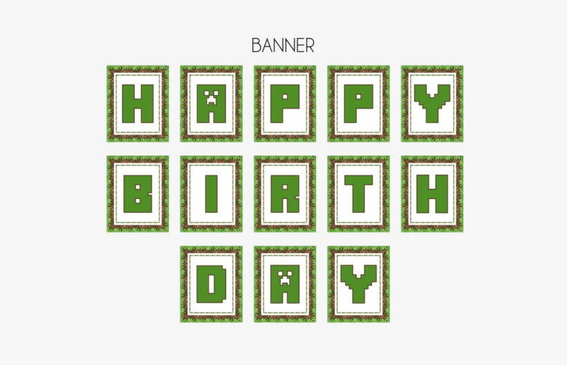 picture relating to Minecraft Birthday Banner Free Printable called No cost Minecraft Occasion Printables Versus Printabelle - Minecraft