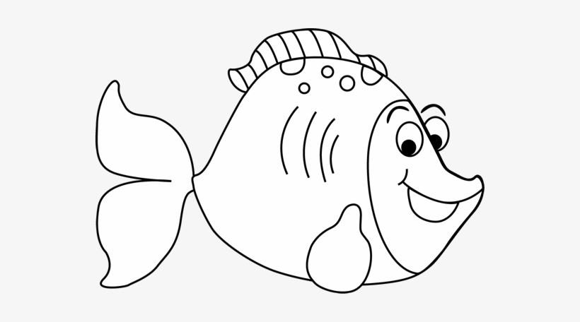 Fish Black And White Black And White Cartoon Fish Clip Cute Cartoon Clipart Black And White 550x376 Png Download Pngkit
