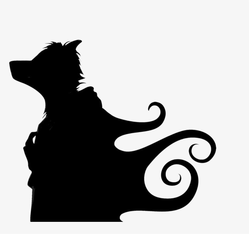 Falling Cat Clipart Anthro Silhouette Png 900x700 Png Download