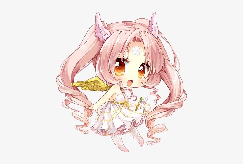Anime Chibi Cute Girl Angel Chibi Anime 442x473 Png Download Pngkit
