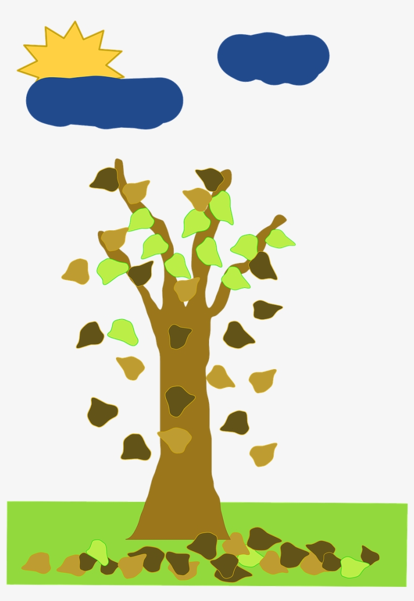 Fall Without Leaf Tree Cartoon From Free Trees Animated Fall Clip Art 546x640 Png Download Pngkit