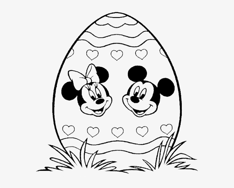 - Mickey Mouse Face Coloring Pages Printable - Coloring Pages Minnie Easter -  600x591 PNG Download - PNGkit