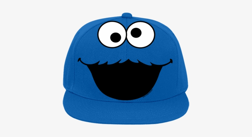57479f30b5a8c Flat Bill Fitted Hats 123 - Cookie Monster Hat Transparent - 428x400 ...