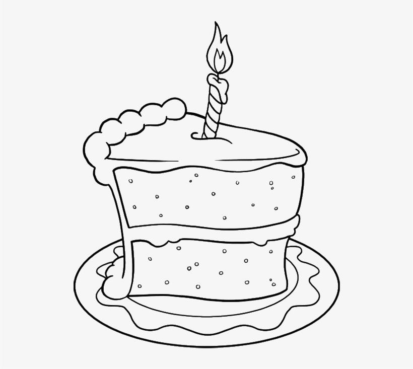 Outstanding Drawing Birthday Cake Png Birthday Cake Slice Drawing 700X858 Birthday Cards Printable Trancafe Filternl