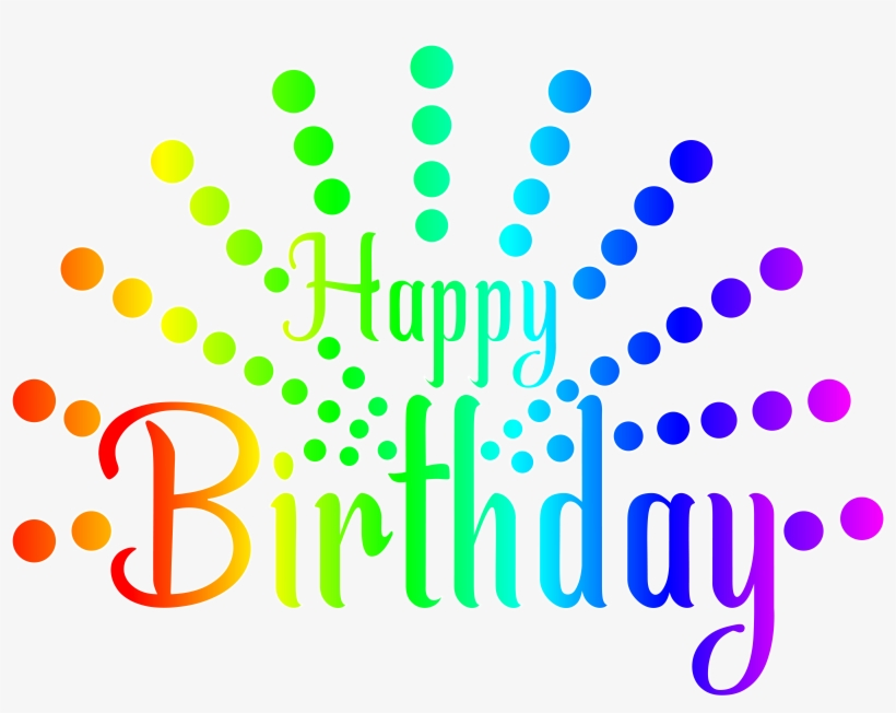 Happy Birthday Transparent Background Clipart